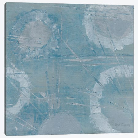 Champagne Burst Blue/Gray Canvas Print #MEC8} by Marie Elaine Cusson Canvas Artwork