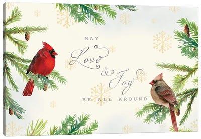Christmas Blessings landscape Canvas Art Print