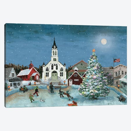 Christmas Scene-Moon Canvas Print #MEC96} by Marie Elaine Cusson Art Print