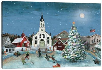 Christmas Scene-Moon Canvas Art Print