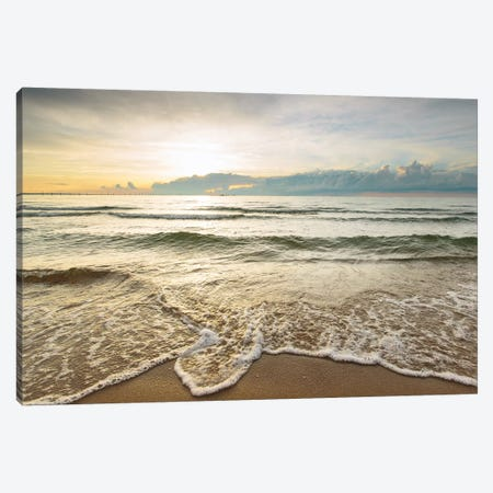First Landing Sea II 3-Piece Canvas #MED7} by Adam Mead Canvas Artwork