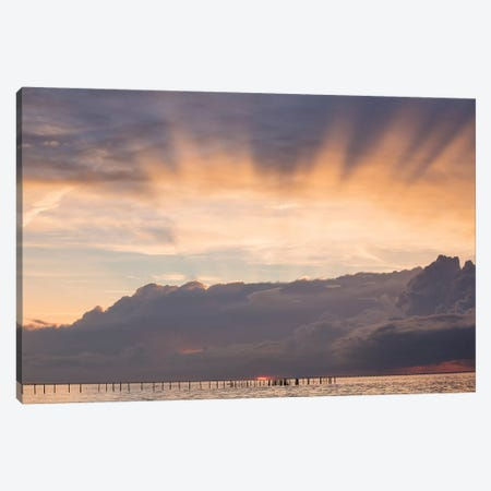 First Landing Sea III Canvas Print #MED8} by Adam Mead Canvas Print
