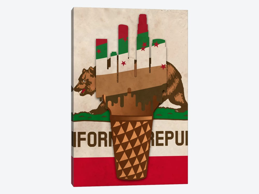 City of Ice Cream by 5by5collective 1-piece Canvas Print