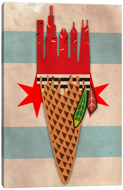Windy City Hawks Canvas Art Print