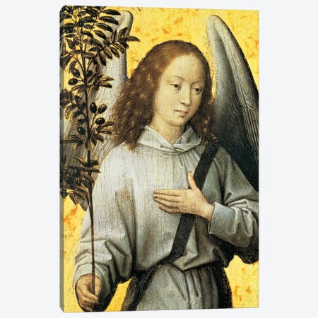 Angelo Con Ramo d'Ulivo Canvas Print #MEM1} by Hans Memling Canvas Art