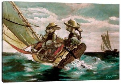 Bunny Boat Canvas Art Print