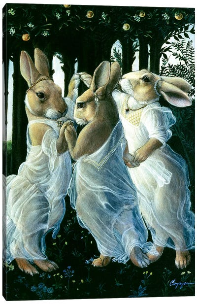 Bunny Graces Canvas Art Print