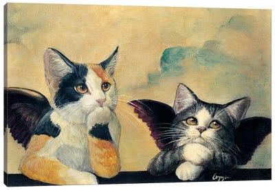 Cherub Kittens Canvas Art Print