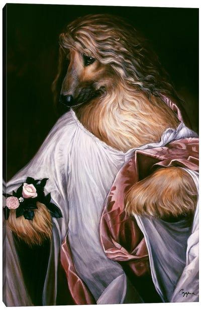 Flora Afghan Canvas Art Print
