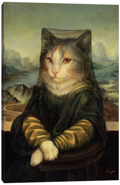 Mona Peaches Canvas Art Print