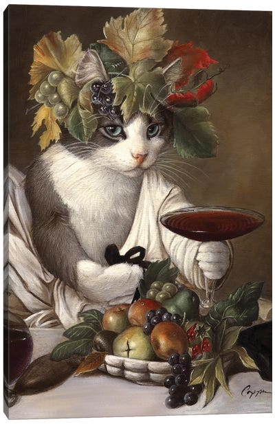 Widget As Bacchus Canvas Art Print
