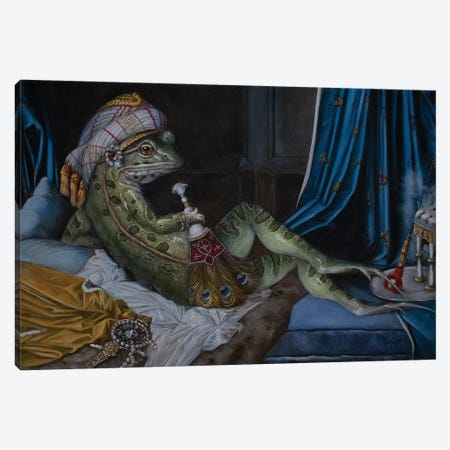 Frog Odalisque Canvas Print #MEN71} by Melinda Copper Canvas Art Print