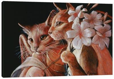 Cat Angels Canvas Art Print