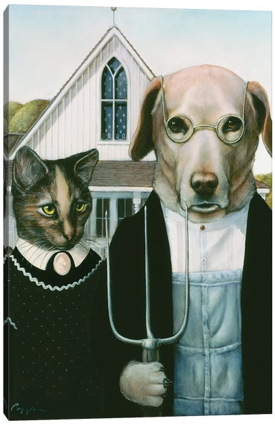 Kitty And Mitty Canvas Art Print