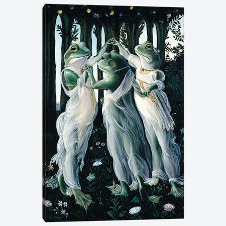 Botticelli Frogs Canvas Print #MEN8} by Melinda Copper Canvas Print