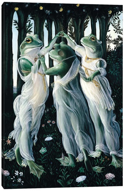 Botticelli Frogs by Melinda Copper Canvas Art Print