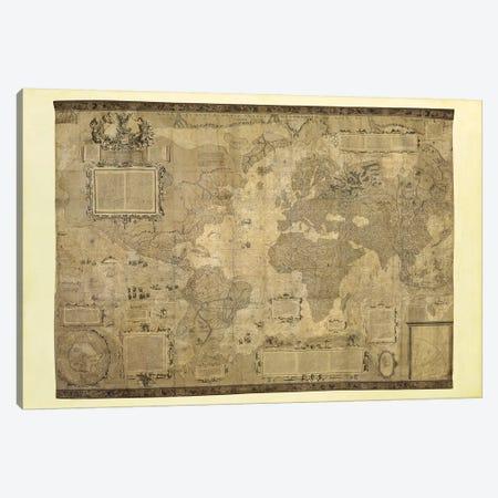 Orbis Terrae Descriptio Canvas Print #MER1} by Gerardus Mercator Canvas Wall Art