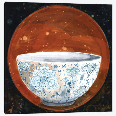 Bowl On Rust Circle Canvas Print #MET10} by Miri Eshet Art Print