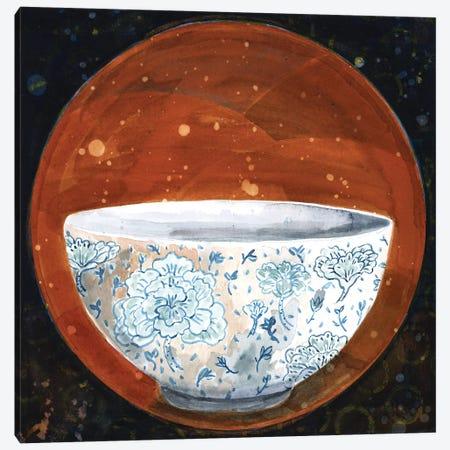 Bowl On Rust Circle Canvas Print #MET10} by Miri Eshet Art Print