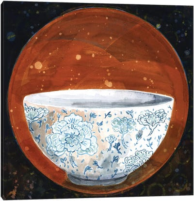 Bowl On Rust Circle Canvas Art Print