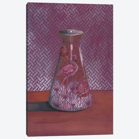 Flamingo Vase Canvas Print #MET12} by Miri Eshet Canvas Art Print