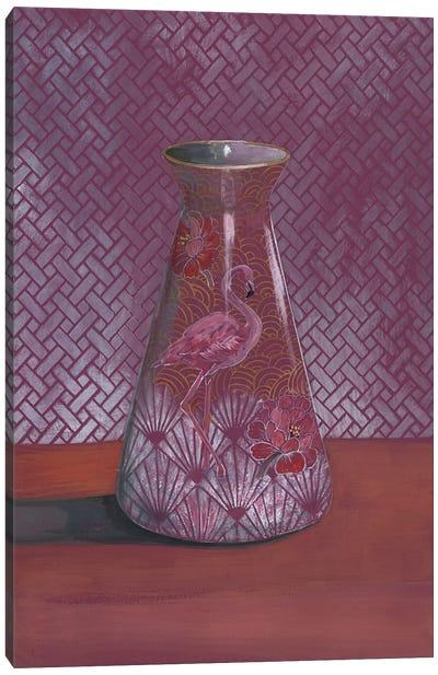 Flamingo Vase Canvas Art Print