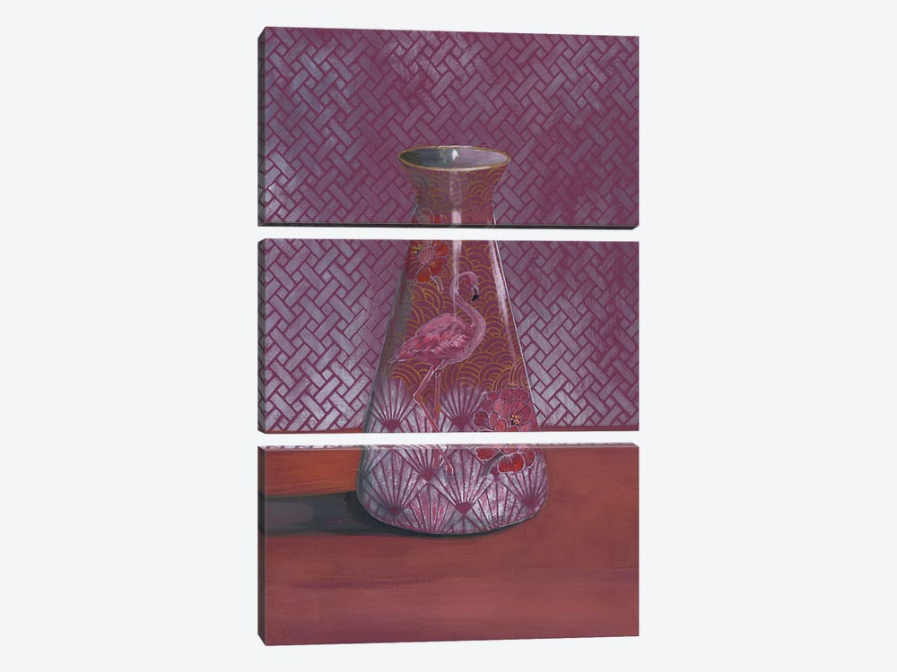 Flamingo Vase by Miri Eshet 3-piece Canvas Art