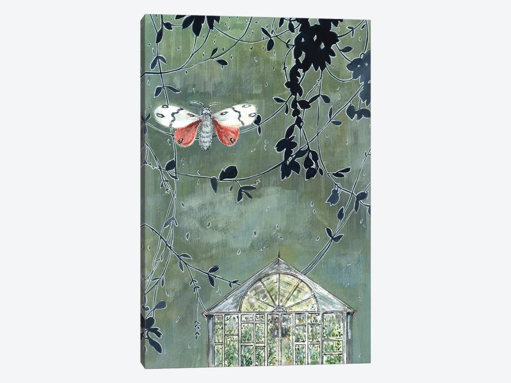 Greenhouse And Moth by Miri Eshet 1-piece Canvas Wall Art