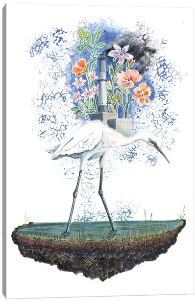 Heron Dreams Canvas Art Print