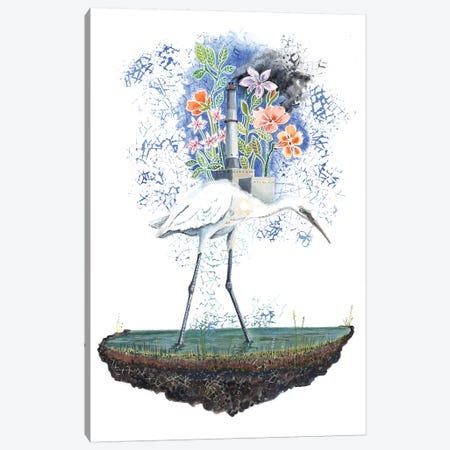 Heron Dreams Canvas Print #MET17} by Miri Eshet Canvas Wall Art