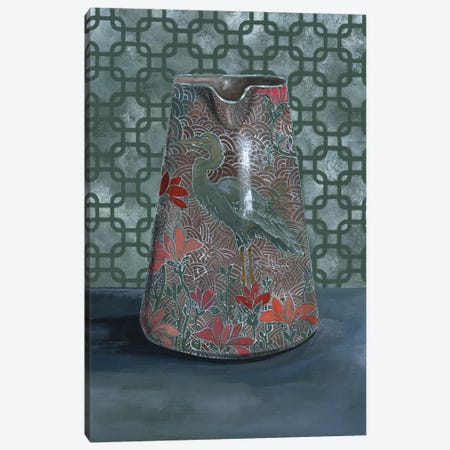 Heron Vase Canvas Print #MET19} by Miri Eshet Canvas Print