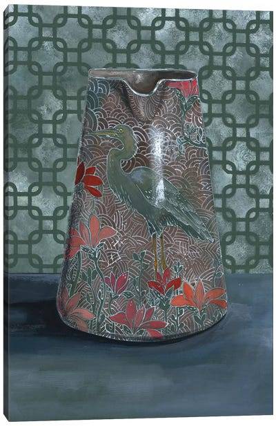 Heron Vase Canvas Art Print