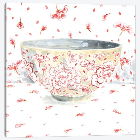 Pink Bowl Canvas Print #MET28} by Miri Eshet Canvas Wall Art