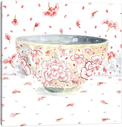 Pink Bowl Canvas Art Print