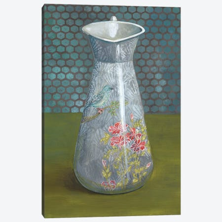 Pitcher With Bird Canvas Print #MET29} by Miri Eshet Canvas Artwork