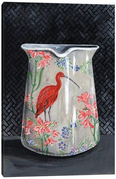 Scarlet Ibis Vase Canvas Art Print