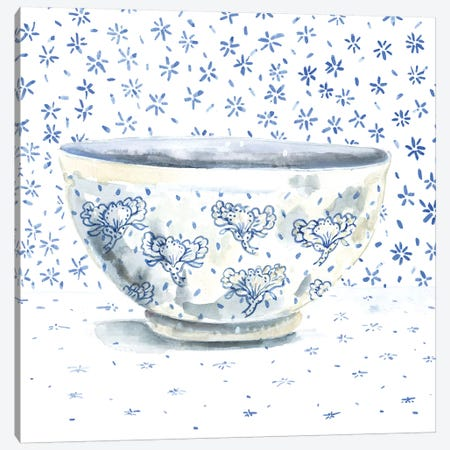 Blue China Canvas Print #MET3} by Miri Eshet Canvas Art