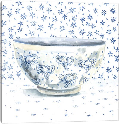 Blue China Canvas Art Print