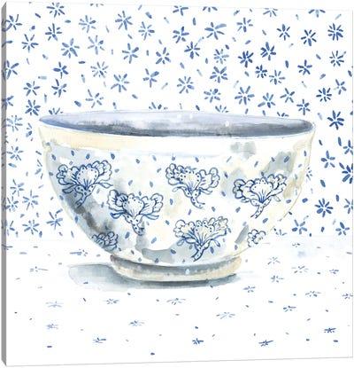 Blue China Canvas Art Print