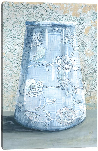 Blue China Vase Canvas Art Print