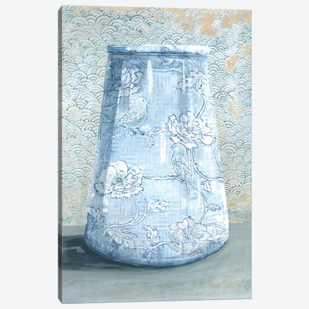 Blue China Vase Canvas Print #MET4} by Miri Eshet Canvas Print