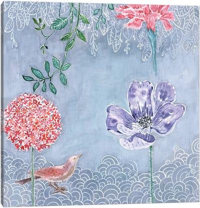 Blue-Gray Botanical Canvas Art Print