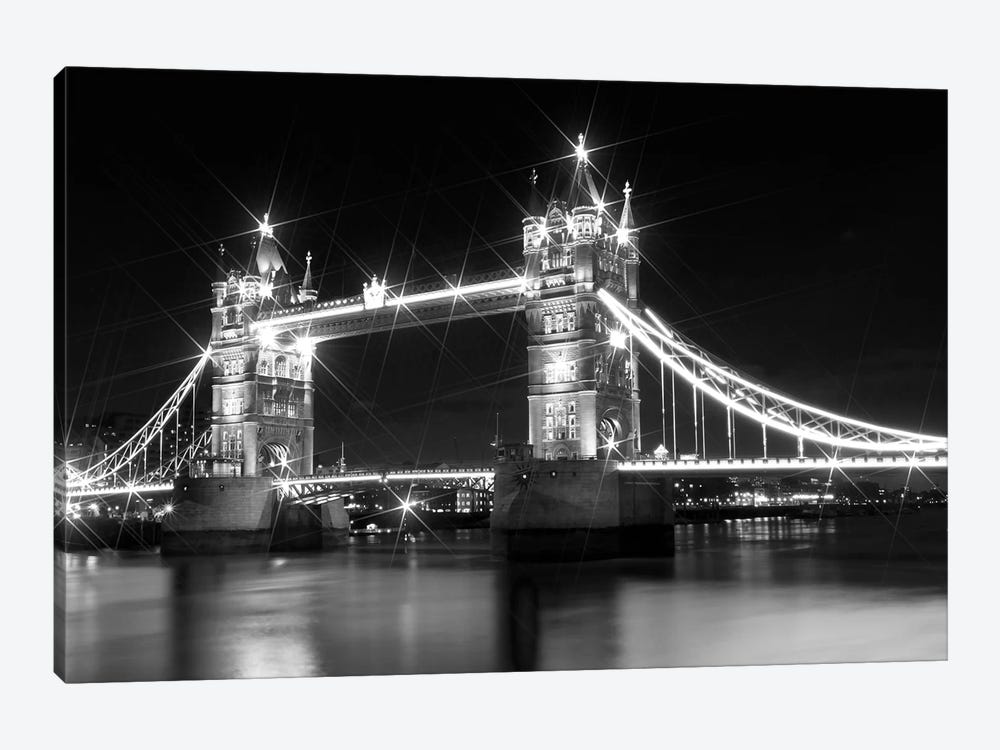 Tower Bridge At Night by Melanie Viola 1-piece Art Print