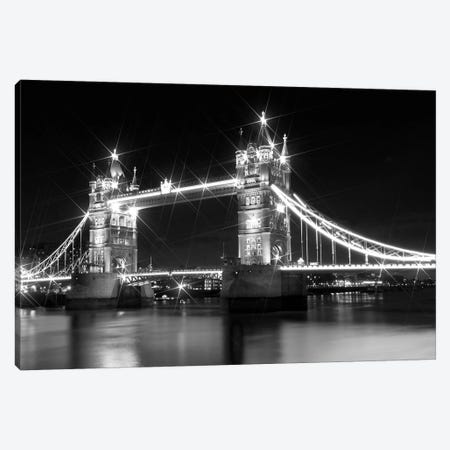 Tower Bridge At Night Canvas Print #MEV108} by Melanie Viola Canvas Art Print