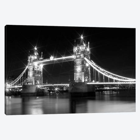 Tower Bridge At Night Canvas Print #MEV108} by Melanie Viola Canvas Art Print
