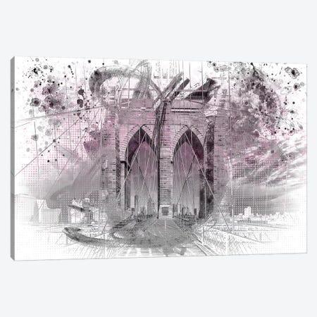 Brooklyn Bridge In Pink Canvas Print #MEV10} by Melanie Viola Canvas Print