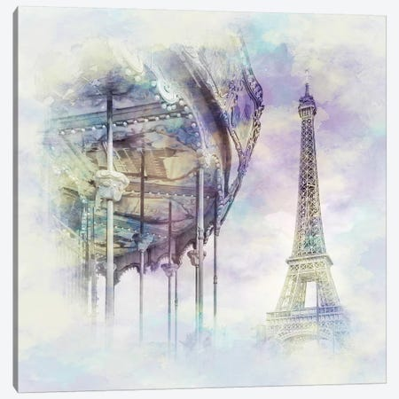 Typical Paris  Canvas Print #MEV110} by Melanie Viola Canvas Wall Art