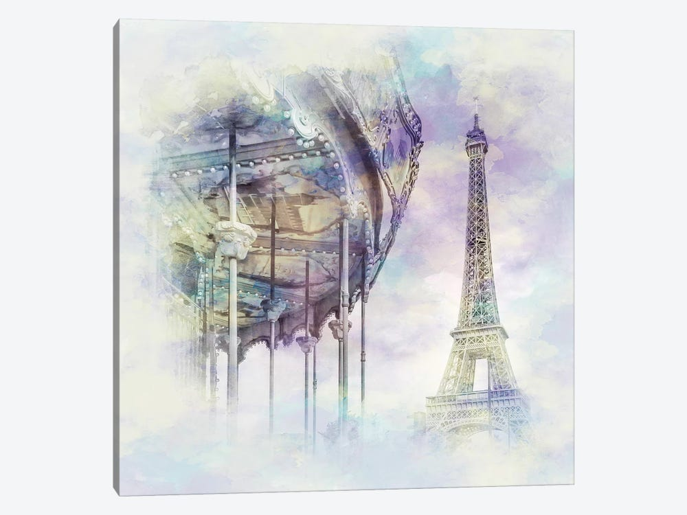 Typical Paris  by Melanie Viola 1-piece Canvas Art