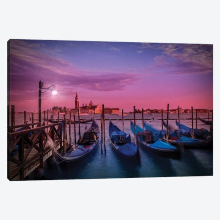 Venice Gorgeous Sunset Canvas Print #MEV114} by Melanie Viola Canvas Print
