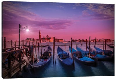 Venice Gorgeous Sunset Canvas Art Print